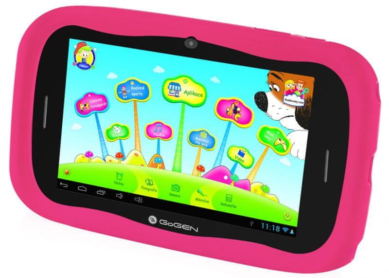 GoGEN Dětský tablet MAXPAD7G4 růžová - II. jakost