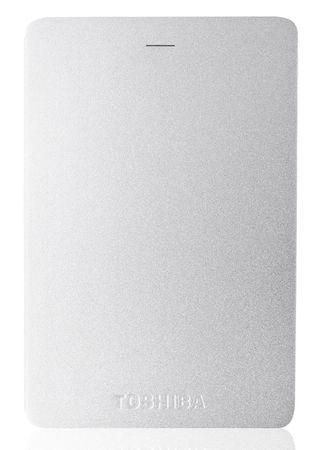 Toshiba zunanji trdi disk Canvio Aluminium 2TB, USB3.0, srebrn