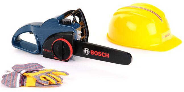Klein Bosch motorová pila s helmou a rukavicemi Profi