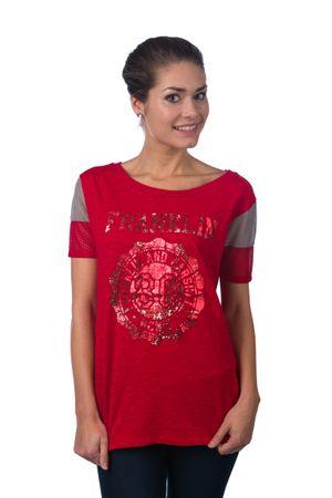 Franklin&Marshall T-shirt damski S czerwony