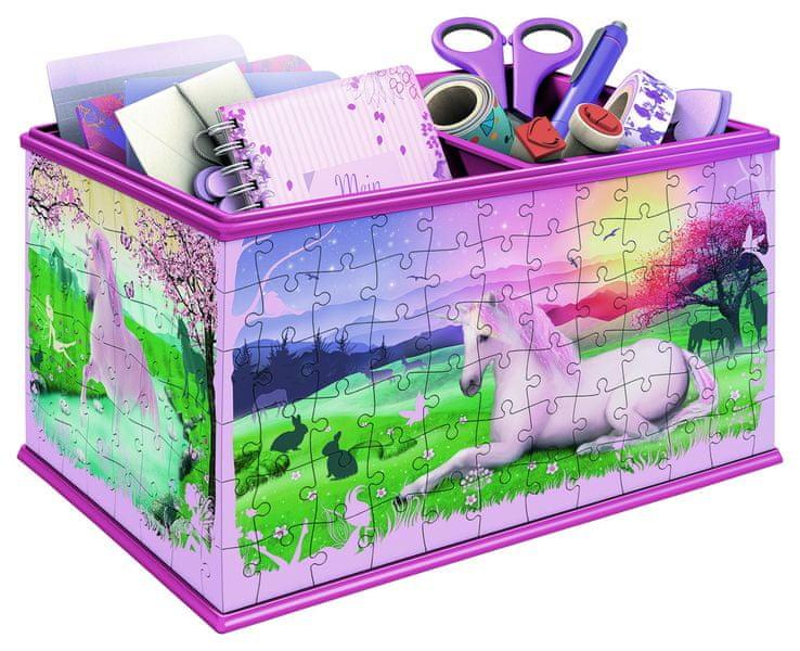 Ravensburger Úložná krabice Jednorožec 3D 216 dílků