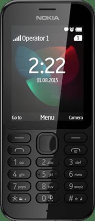 Nokia 222, Dual SIM, černá