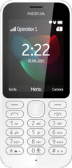 Nokia 222, Dual SIM, bílá