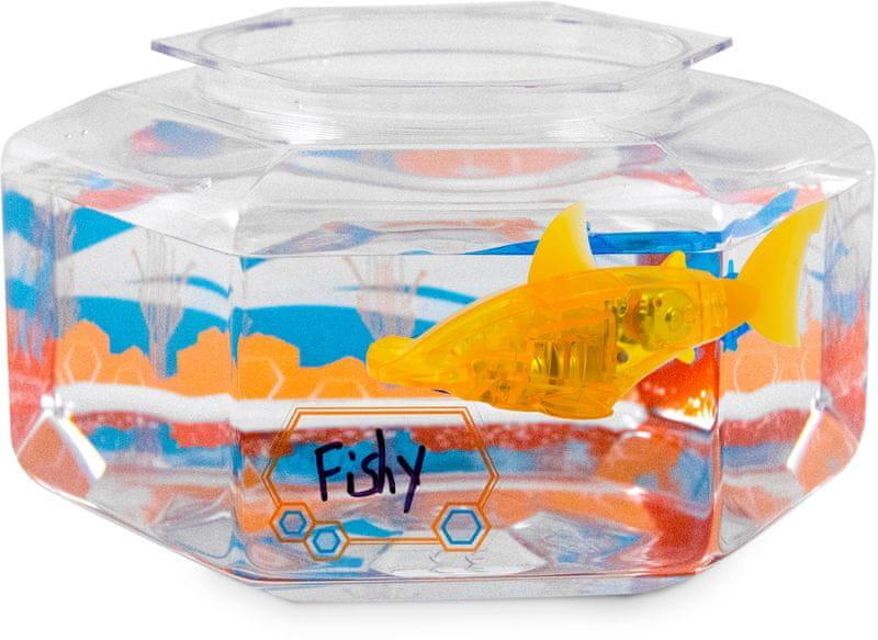 Hexbug Aquabot LED ryba s akváriem modrá