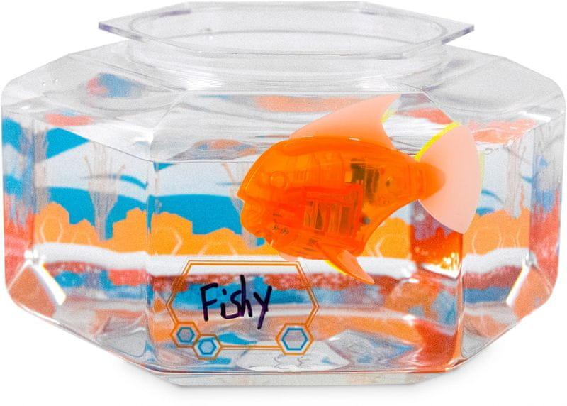Hexbug Aquabot LED ryba s akváriem oranžová