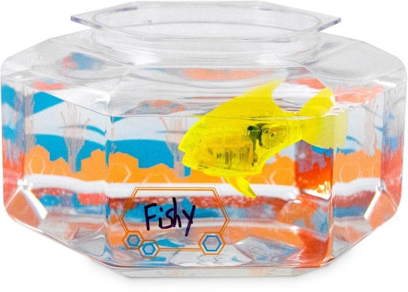 Hexbug Aquabot LED ryba s akváriem žlutá