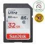 2 - SanDisk spominska kartica SDHC ULTRA 32GB 80MB/s