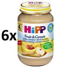 HiPP BIO Jablká a banány s detskými keksami - 6 x 190 g