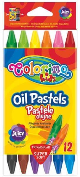 Pastely olejové trojhranné 12 barev Colorino Kids