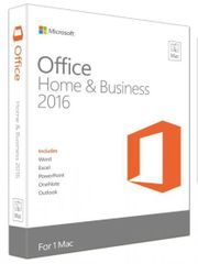 Microsoft Office Mac Home & Business 2016 Ang FPP