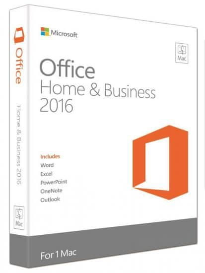 Microsoft Office Mac 2016 pro domácnosti a podnikatele Eng pro 1 MAC (W6F-00952)