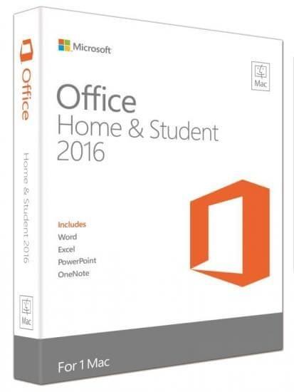 Microsoft Office Mac 2016 pro domácnosti a studenty ENG (GZA-00695)