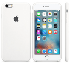 Apple silikonski ovitek za iPhone 6s Plus, bel