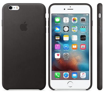 Apple usnjen ovitek za iPhone 6s Plus, črn