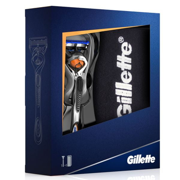 Gillette Fusion Proglide FlexBall Holicí strojek + Balvněný ručník Dárková sada