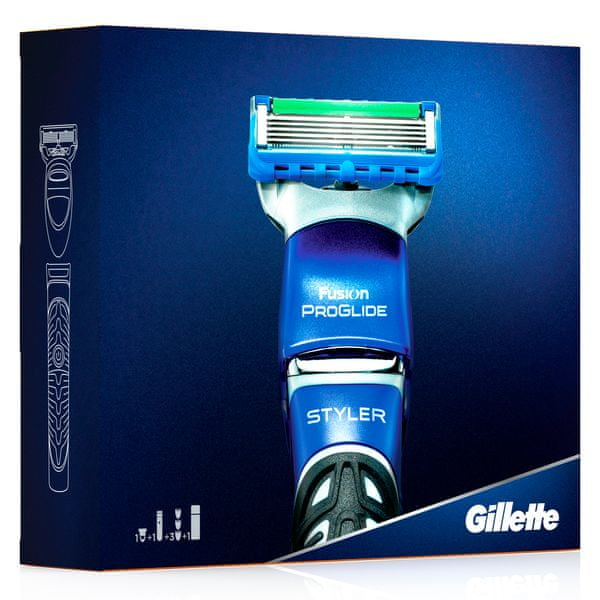 Gillette ProGlide Styler + Proglide hydratační gel 200 ml dárková sada