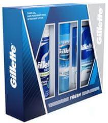 Gillette Kazeta Antiperspirant, balzám po holení, gel na holení