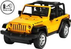 Buddy Toys RC Jeep Wrangler 1/10 żółty