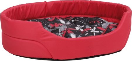 Argi ovalno ležišče za pse, rdeče, L
