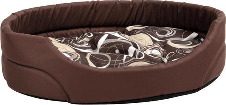 Argi ovalno ležišče za pse, rjava, XL