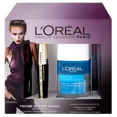 L'Oréal Make-up Designer Jemný odličovač očí 125 ml + řasenka Volume Million Lashes Extra Black, Dárková sad