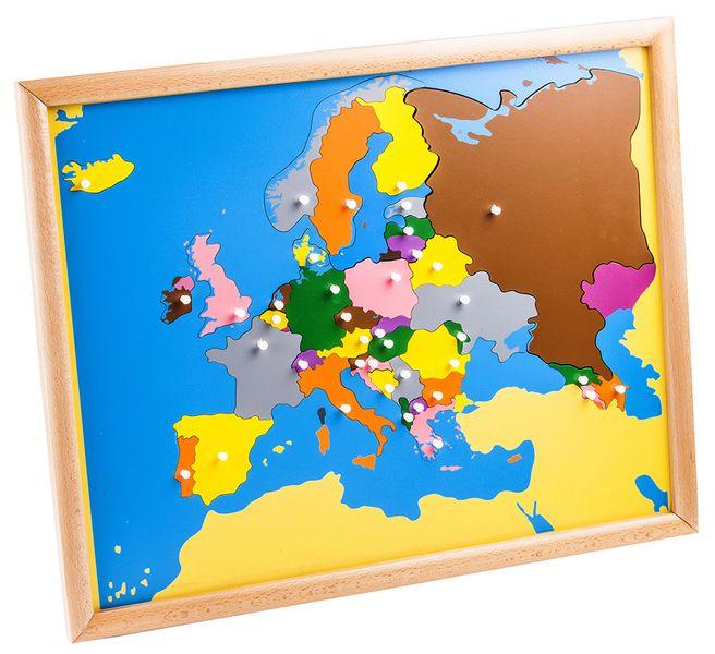 Montessori pomůcky Puzzle – mapa Evropy