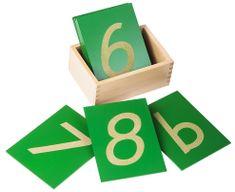Montessori Šmirgľové číslice s krabičkou