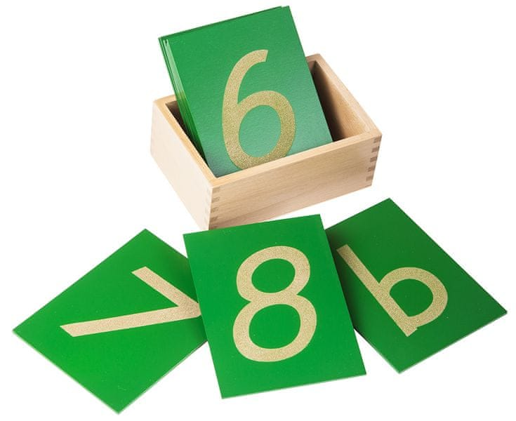 Montessori pomůcky Smirkové číslice s krabičkou