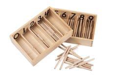 Montessori Krabička s vretienkami