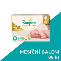 Pampers Pleny Premium Care Velikost 5 (Junior) 11-18 Kg - 88 ks