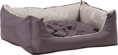 Argi prostokątne legowisko z poduszką, szare
