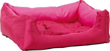 Argi prostokątne legowisko z poduszką, różowe, rozm. L