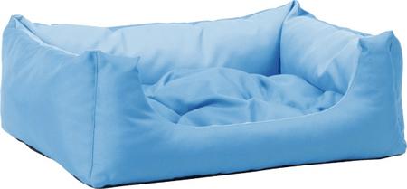Argi prostokątne legowisko z poduszką, niebieskie, rozm. M