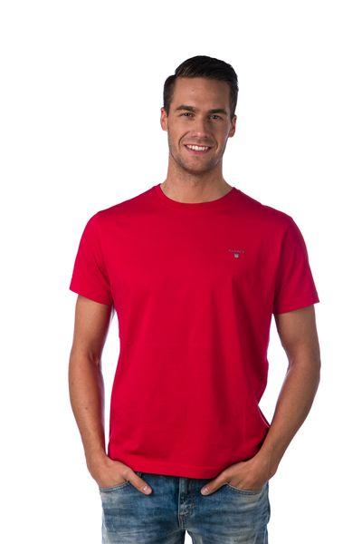 Gant jednobarevné pánské tričko S červená