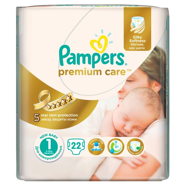 Pampers Pleny PremiumCare 1 Newborn - 22 ks