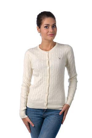 Gant dámský svetr na knoflíčky XXL smetanová