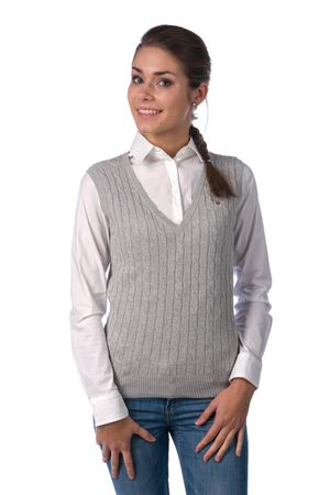 Gant elegantní dámská vesta XS šedá 52b193c9c3