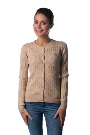 Gant dámský svetr na knoflíčky M béžová