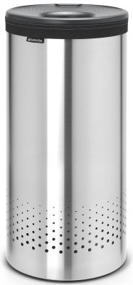 Brabantia Koš na prádlo - 35 L, Matná ocel, šedé plastové víko