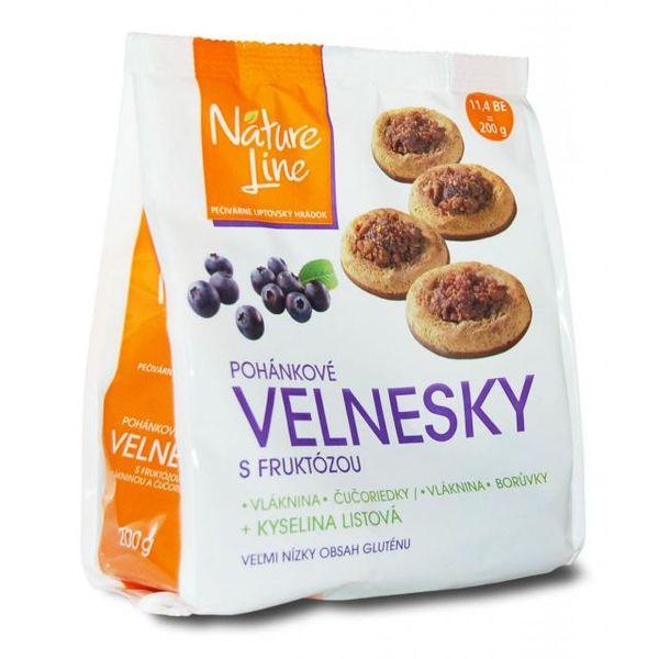 VELNESKY pohank. sušenky s fruktózou polomáč. 200g