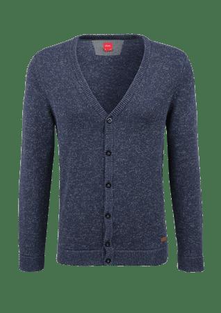 s.Oliver pánský svetr na knoflíky S modrá  6de6c90caa