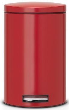 Brabantia Pedálový koš Silent 12 L, červená