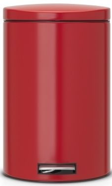 Brabantia Pedálový koš Silent 20 L, červená