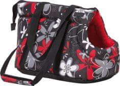 Argi torba za prenos psa, lrdeča rožasta