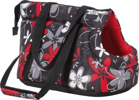 Argi torba za prenos psa, lrdeča rožasta, S