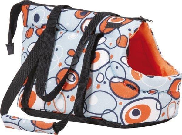 Argi Taška pro psa oranžová se vzorem vel. M