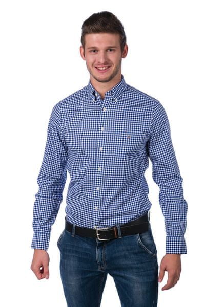 Gant pánská kostičkovaná košile XXXL modrá