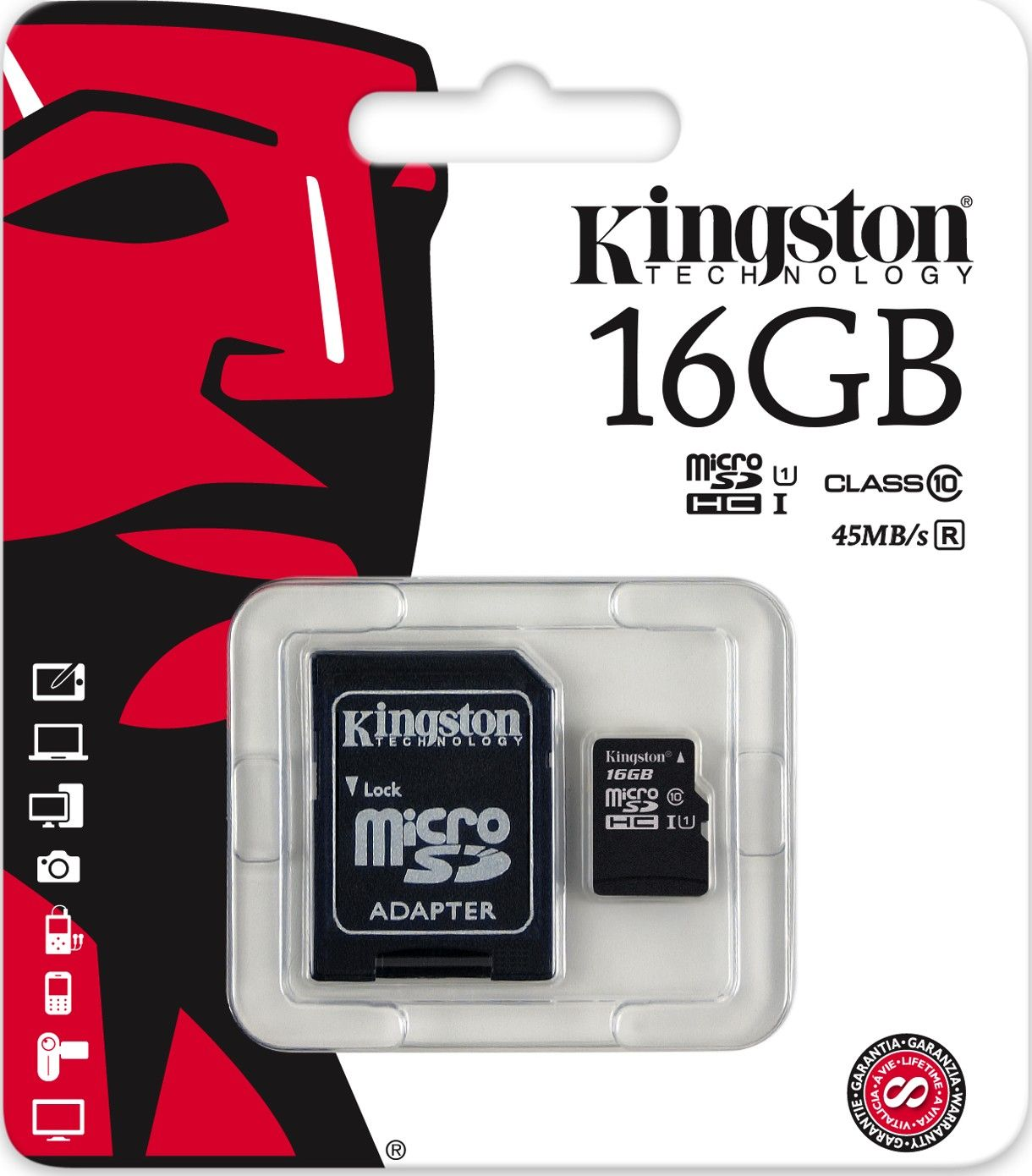 kingston 16 gb microsdhc 45 mbs gen2