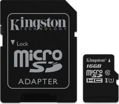 Kingston memorijska kartica MicroSDXC 16 GB (class10) 45MB/s SD adapter