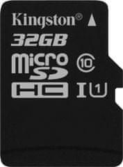 Kingston spominska kartica microSDHC 32GB Class 10 UHS-I (SDC10G2/32GBSP)